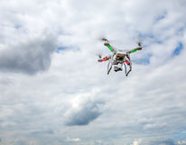 Flying drone in the sky Stock Image
