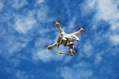 Flying Drone on the Sky Stock Image