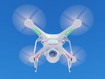 Flying drone with a video camera in the sky Royalty Free Stock Photos