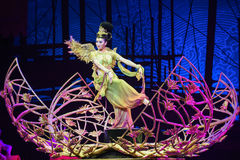 """Flying in Dunhuang-Dance drama """"The Dream of Maritime Silk Road"""" Stock Photo"""