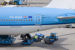 The flying Dutchman. In Amsterdam on Schiphol Airport Stock Images