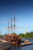 Flying Dutchman and Peter and Paul Fortress Stock Images