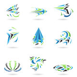 Flying Dynamic Abstract Icons Stock Photo