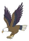 Flying Eagle. Cartoon illustration of a flying eagle isolated on white background vector illustration
