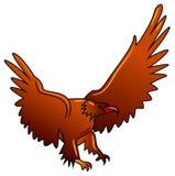 Flying eagle. Illustrated isolated brush stroke flying eagle image stock illustration