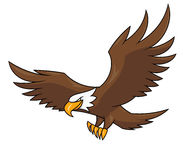 Flying eagle illustration 2. Illustration of the flying eagle on white background stock illustration
