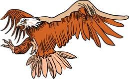 Flying eagle. Line art clip art image royalty free illustration