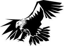 Flying eagle. Line art clip art image vector illustration