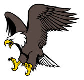 Flying eagle mascot Royalty Free Stock Images