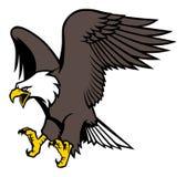 Flying eagle mascot. Vector of flying eagle mascot vector illustration