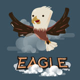 Flying eagle in the sky. character design -  Royalty Free Stock Images