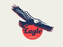 The flying eagle. Vector emblem stock illustration