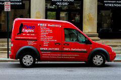 Flying Eagles delivery van. Royalty Free Stock Photo