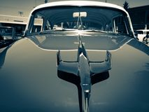Flying with Eagles and vintage cars Royalty Free Stock Images