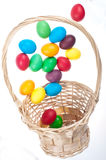Flying Easter eggs Stock Photos