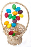 Flying Easter eggs Stock Images