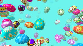 Flying easter eggs generated 3D 4K video stock video