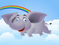 Flying elephant Stock Images