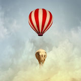 Flying elephant Stock Image