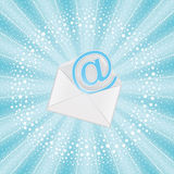 Flying email Stock Image