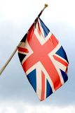 Flying english flag Stock Photography