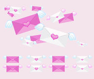 Flying envelope Royalty Free Stock Photo