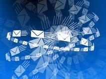 Flying Envelopes Stock Image