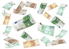 Flying euro Royalty Free Stock Photos