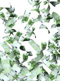 Flying euro banknotes Stock Image