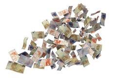 Flying euro bills Royalty Free Stock Photos