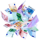 Flying Euro Royalty Free Stock Photos