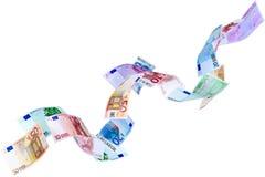 Flying Euro Stock Image