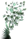 Flying Euros. ( with clipping path royalty free illustration