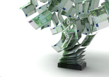 Flying Euros Stock Images