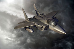 Flying F15 Royalty Free Stock Photo