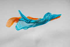 Flying fabric. High speed studio shot, art object, design element Royalty Free Stock Images