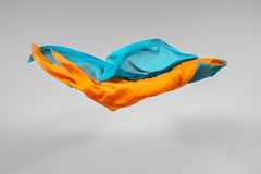 Flying fabric Stock Image