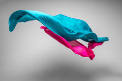 Flying fabric Stock Photography