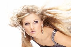 Flying fair hair Royalty Free Stock Photography
