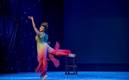 Flying Fairy-Rouged Lips-Chinese classical dance Royalty Free Stock Image