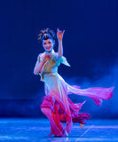Flying Fairy-Rouged Lips-Chinese classical dance Stock Image
