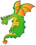 Flying fairy tale dragon Stock Image