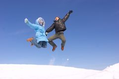 Flying family Stock Photos