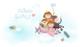 Flying family Royalty Free Stock Photos