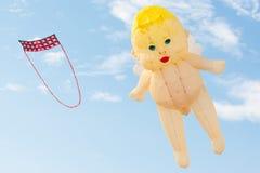 Flying fancy kite Royalty Free Stock Photo