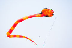 Flying fancy kite Royalty Free Stock Photography