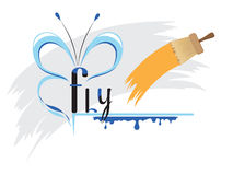 Flying fantasy Royalty Free Stock Image