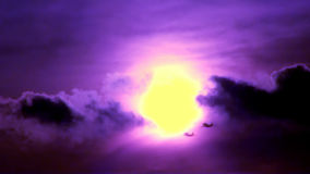 Flying Fighting Airplans (violet dark color) stock video footage