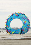 Flying Figure Kite: Sea Urchin Shaped at the Adelaide Internatio Royalty Free Stock Photography