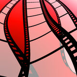 Film strip with red background Royalty Free Stock Photos